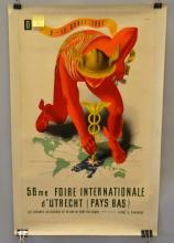 VINTAGE FRENCH DUREVE 56 ME FIORE INTERNATIONALE FAIR POSTER