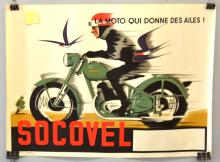 BELGIAN SOCOVEL MOTORCYCLE POSTER