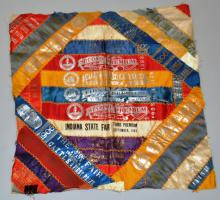 EARLY 20TH CENT. FAIR SILK RIBBON COLLAGE