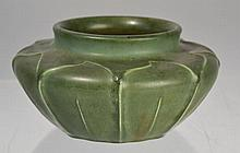 HAMPSHIRE POTTERY ARTS AND CRAFTS MATTE GREEN GLAZED VASE