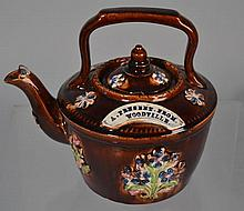 ENGLISH BARGEWARE TEAPOT