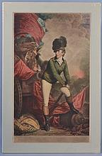 20TH CENT. BRITISH COLOR LITHOGRAPH PORTRAIT OF A 19TH CENT. EUROPEAN MILITARY OFFICER