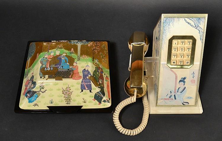 (2) DIFFERENT VINTAGE TELECONCEPTS ORIENTAL MOTIF DECORATOR TELEPHONES