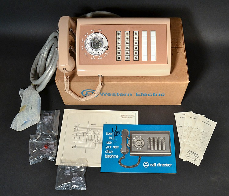 "VINTAGE WESTERN ELECTRIC CALL DIRECTOR TELEPHONE MODEL ""631"" ROTARY - IN THE ORIGINAL BOX"