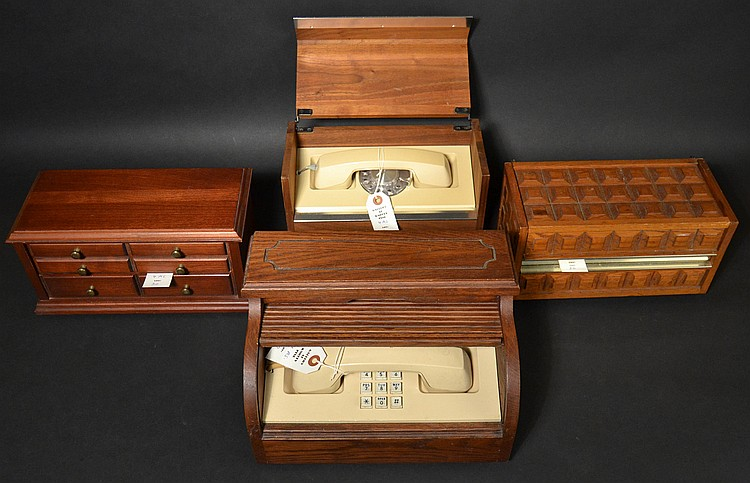 (4) DIFFERENT VINTAGE WESTERN ELECTRIC STOWAWAY TELEPHONES