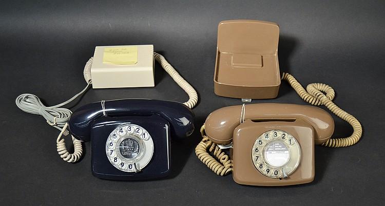 """(2) DIFFERENT BRITISH """"COMPACT PLASTIC TELEPHONES"""