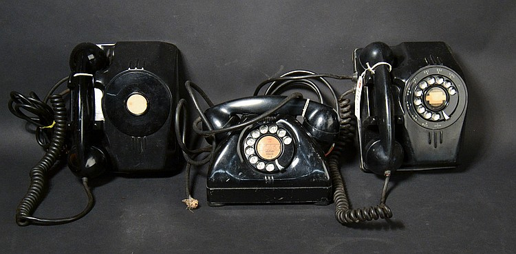 (3) DIFFERENT VINTAGE MILITARY METAL DESK TELEPHONES BY THE CONN. TEL. AND ELEC. CORP.