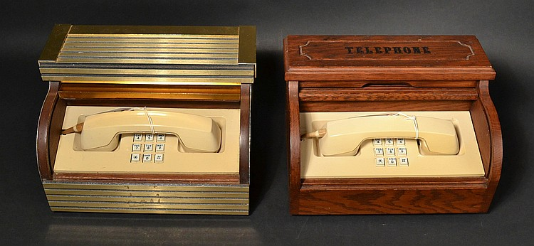(2) DIFFERENT VINTAGE WESTERN ELECTRIC STOWAWAY TELEPHONES