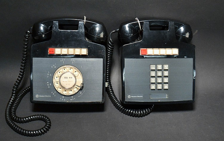 (2) DIFFERENT VINTAGE WESTERN ELECTRIC WALL KEYSET TELEPHONES