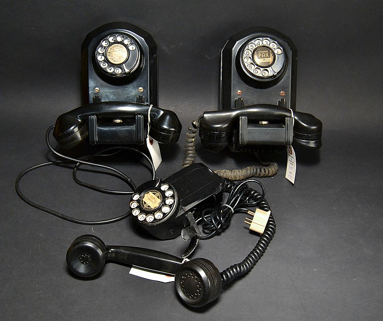 (3) DIFFERENT VINTAGE AUTOMATIC ELECTRIC CO. WALL TELEPHONES