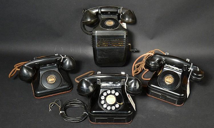 (4) DIFFERENT VINTAGE LEICH PLASTIC TELEPHONES