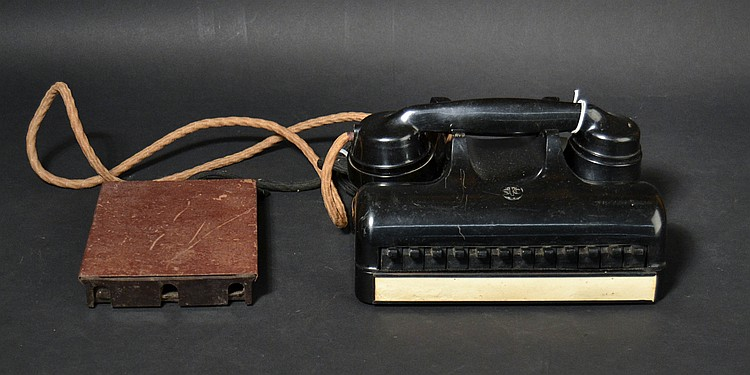 VINTAGE CONTINENTAL PLASTIC KEYSET TELEPHONE WITH TERMINAL BLOCK
