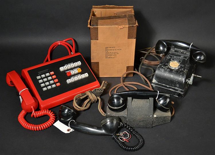 (4) VINTAGE MILITARY TELEPHONES
