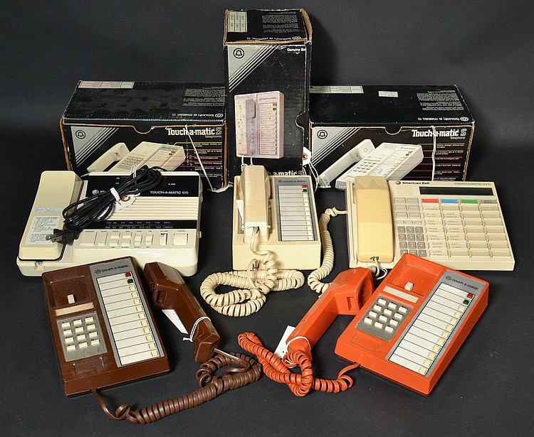 "(8) DIFFERENT VITNAGE ""TOUCH-A-MATIC"" TELEPHONES"