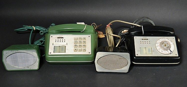 (2) DIFFERENT VINTAGE AUTOMATIC ELECTRIC CO. TYPE 880 EXECUTIVE MODEL SPEAKER PHONES