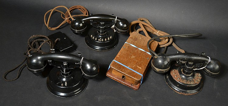 "(3) DIFFERENT VINTAGE ""COUCH"" INTERNCOM TELEPHONES"