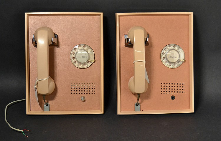 (2) DIFFERENT VINTAGE WESTERN ELECTRIC WALL MOUNT PANEL ROTARY TELEPHONES