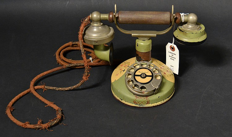 "VINTAGE KELLOGG ROTARY DIAL GRAB-A-PHONE - MODEL ""F135"" MASTERPHONE CRADLE TELEPHONE"