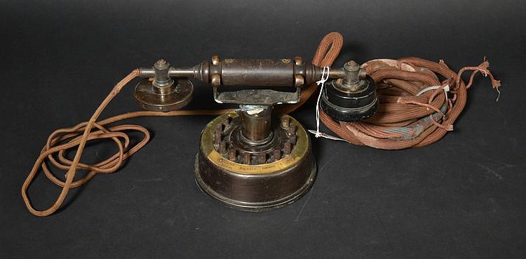 VINTAGE LOEFFLER (12) BUTTOM INTERCOM CRADLE TELEPHONE