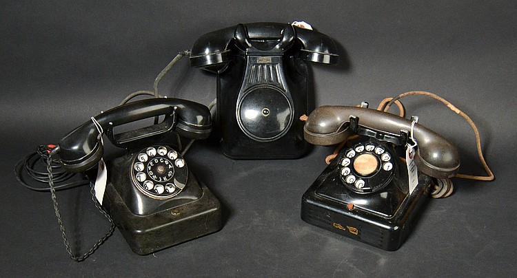 (3) DIFFERENT VINTAGE FOREIGN TELEPHONES