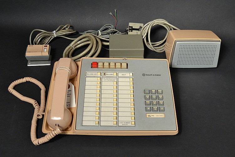 "VINTAGE ""TOUCH-A-MATIC - 32"" TELEPHONE KEY SET MODEL ""2872"" TOUCHTONE TELEPHONE WITH ""4A"" SPEAKER PHONE AUXILLARY EQUIPMENT"