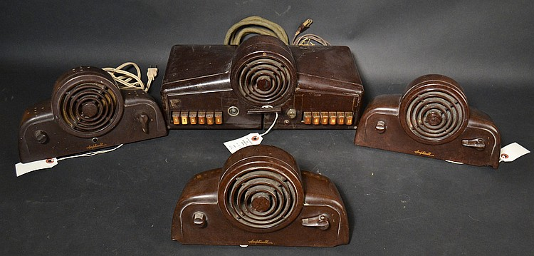 "VINTAGE RAULAND ""AMPLICALL"" MODEL ""2412"" PLASTIC INTERCOM STATION WITH (3) REMOTE SPEAKERS"
