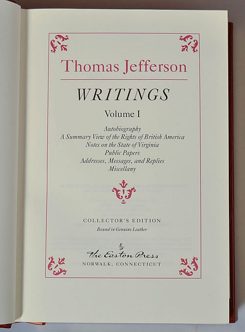 thomas jefferson writings A forwarded email with the several quotations from thomas jefferson relating to  the economy, democracy and government.