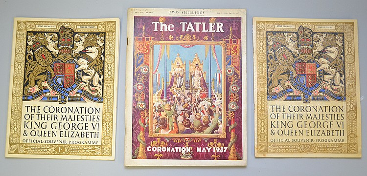 (3) 1937 KING GEORGE VI & QUEEN ELIZABETH CORONATION PUBLICATIONS