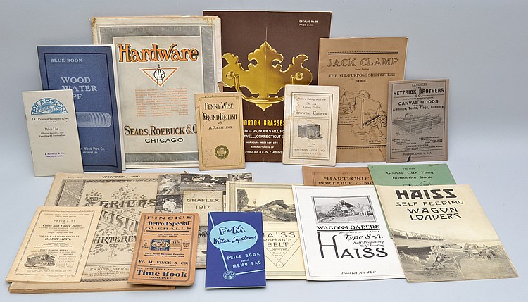 (18) MISC. 19TH & 20TH CENT. SOFT FORMAT ADVERTISING CATALOGS & PUBLICATIONS