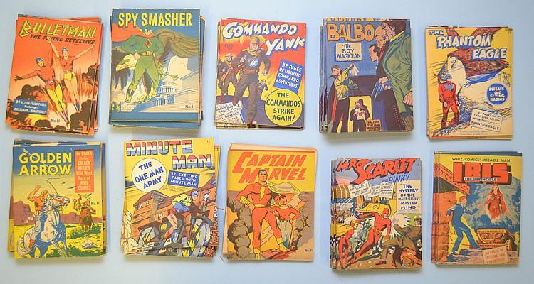 (48) MISC. MINIATURE 1940'S FAWCETT PUBLICATION STAPLE BOOKLET COMICS