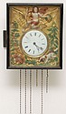 19TH CENT. GERMAN BLACK FOREST PICTURE FRAME CLOCK