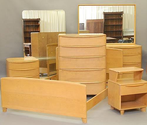 6 Pc Heywood Wakefield Bedroom Set