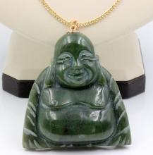 Jade Buddah Pendant on 14Kt YG Chain