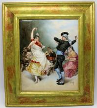 Paz Porcelain Danceus Plaque
