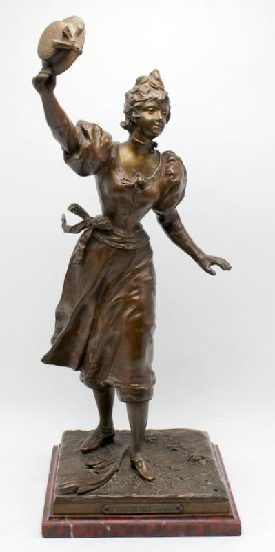 charles anfrie bronze sculpture of le premier prix. Black Bedroom Furniture Sets. Home Design Ideas