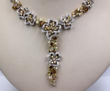 18Kt WG & 25.67cts. Diamond Necklace