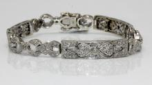 14Kt WG Art Deco 2ct. Diamond Bracelet