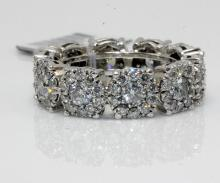 14Kt WG & 4.3ct. Diamond Eternity Band