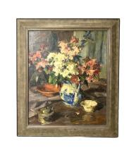 Signed Louis L Betts Oil Painting on Canvas Still Life