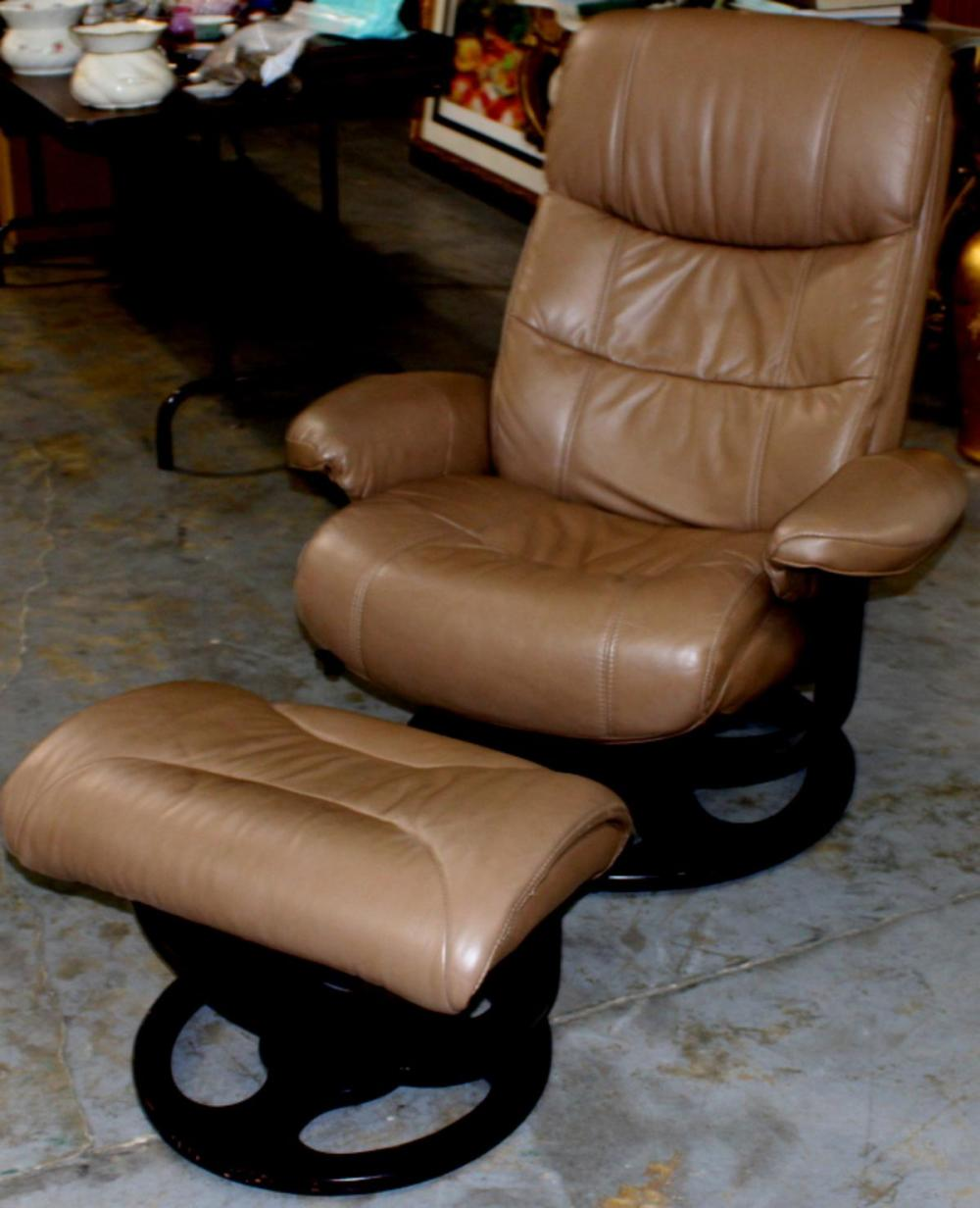 Picture of: Sold Price Mid Century Modern Leather Recliner Chair With Matching Footstool Invalid Date Pdt
