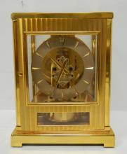 Le Coultre Brass Fifteen Jewels Atmos Clock