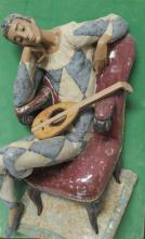 Mounted Lladro Harlequin Wall Plaque Inmate by Fulgencio Garcia