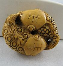 Antique Chinese Hand Carved Ivory Netsuke