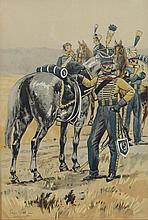 Pierre Albert Leroux (1890-1959) Watercolor