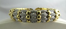 Very Fine Contemporary Diamond Flexible Cuff Bracelet