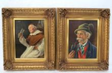 Casper Mine (French 1905) Oil Paintings on Board