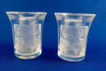 Pair of Lalique France Shot Glasses