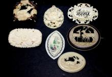 Collection of Finely Carved Ivory Pendants