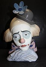 Lladro Pensive Clown Figure