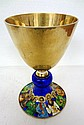 Antique 800 German Enamel & Gold Wash Chalice